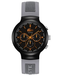 Lacoste L Ve Watch Men's Chronograph Borneo Gray Logo Silicone Strap 44Mm 2010655