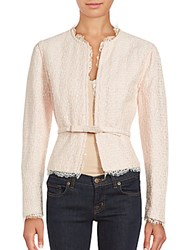 Valentino Belted Long Sleeve Jacket Blush