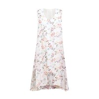 Paisie Draped Floral Dress With Side Split
