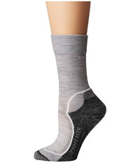 Icebreaker Hike Light Crew 1 Pair Pack Blizzard Heather White Oil Women's Crew Cut Socks Shoes Multi