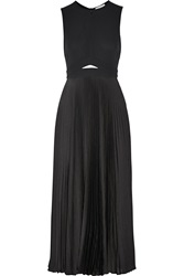 A.L.C. Cornelia Cutout Crepe And Satin Midi Dress Black