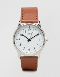 Limit Watch In Tan Exclusive To Asos Tan