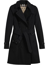 Burberry The Chelsea Mid Length Trench Coat Black