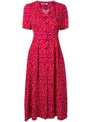 Sjyp Dotted Print Dress Red