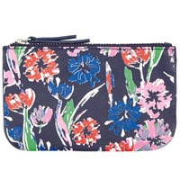 John Lewis Tulip Print Leather Coin Purse Blue