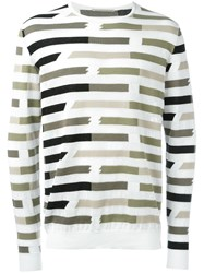 Ermanno Scervino Striped Sweatshirt Nude Neutrals