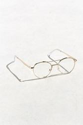 Urban Outfitters Metal Frame Round Readers Gold