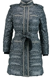 Tory Burch Rea Printed Shell Coat
