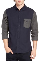 French Connection Men's Trim Fit Flannel Shirt