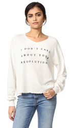 Wildfox Couture No Resolution Sweatshirt Alabaster