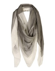 Liviana Conti Square Scarves Grey