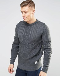 Bellfield Crew Neck Jumper Grey