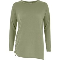 River Island Womens Light Green Ruched Drawstring Side Top