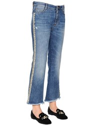 Ermanno Scervino Boot Cut Embroidered Stretch Denim Jeans