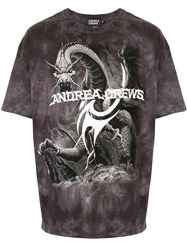 Andrea Crews Logo Dragon Print T Shirt 60