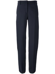 Cedric Charlier Stripe Detail Trousers Blue