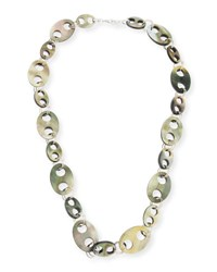 Viktoria Hayman Doublet Link Statement Necklace Black White