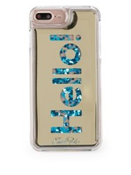 Edie Parker Hello Floating Iphone 6 7 Phone Case Gold Blue
