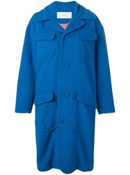 Julien David Oversized Coat Blue