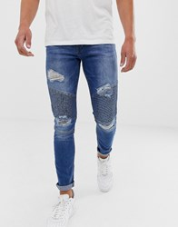 Loyalty And Faith Skinny Fit Jeans In Midwash Mid Wash Blue