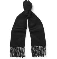 Mulberry Brushed Cashmere Scarf Black