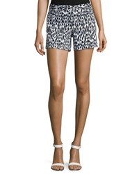 Laundry By Shelli Segal Animal Print Oxford Shorts Black White