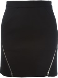 Iro Zip Detail Mini Skirt Black