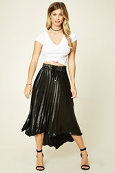 Forever 21 Satin Accordion Skirt