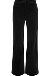 Alexachung Satin Trimmed Cotton Velvet Pants Black