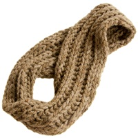 From The Road Josefina Braided Infinity Scarf Flax