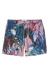 Ted Baker London Nemo Tiger Print Swim Shorts Pink