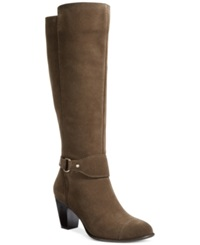 Giani Bernini Cagney Tall Wide Calf Boots Only At Macy's Women's Shoes Green