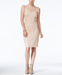 Bar Iii Lace Sheath Dress Only At Macy's Ballet Pink