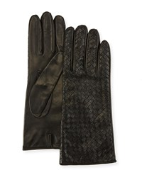 Portolano Woven Napa Leather Gloves Black