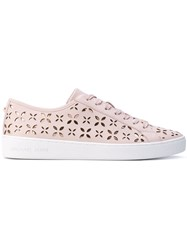 Michael Michael Kors Keaton Sneakers Women Calf Leather Leather Canvas Rubber 8 Pink Purple