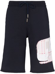 Thom Browne Whale Track Shorts Blue