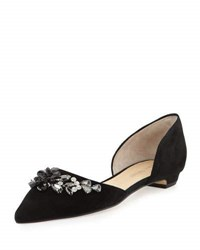 Ivanka Trump Trika Jeweled D'orsay Flat Black