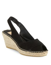 Vidorreta Sandra Crisscross Espadrille Wedge Sandals Black
