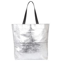 Jaeger Brooklyn Leather Tote Bag Silver