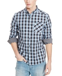 Kenneth Cole Reaction Men's Amesbury Checked Long Sleeve Shirt