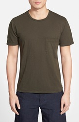 7 For All Mankind 'Raw' Pocket T Shirt Fatigue Green