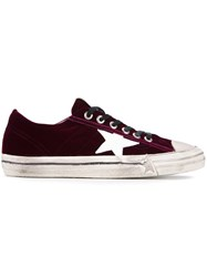 Golden Goose Deluxe Brand 'Super Star' Velvet Sneakers Red