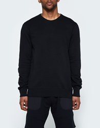 Reigning Champ Ls Crewneck Lightweight Terry In Black