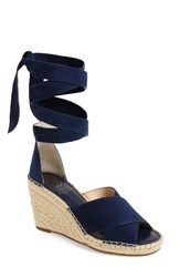 Vince Camuto Women's Leddy Wedge Sandal Midnight Suede