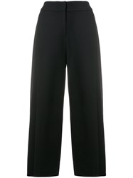 Emporio Armani Cropped High Rise Culottes Blue