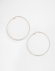 Asos Limited Edition 70'S Oversized Hammered Hoop Earrings Gold