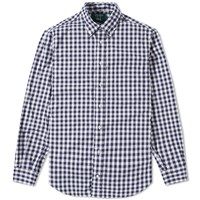 Gitman Brothers Vintage X End. Gingham Oxford Shirt Blue