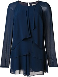 Nicole Miller Layered Jumpsuit Blue