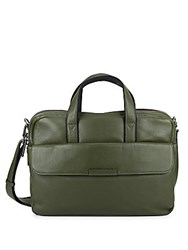 Marc By Marc Jacobs Robbie Leather Briefcase Green