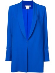 Alice Olivia Shawl Collar Oversized Blazer Blue